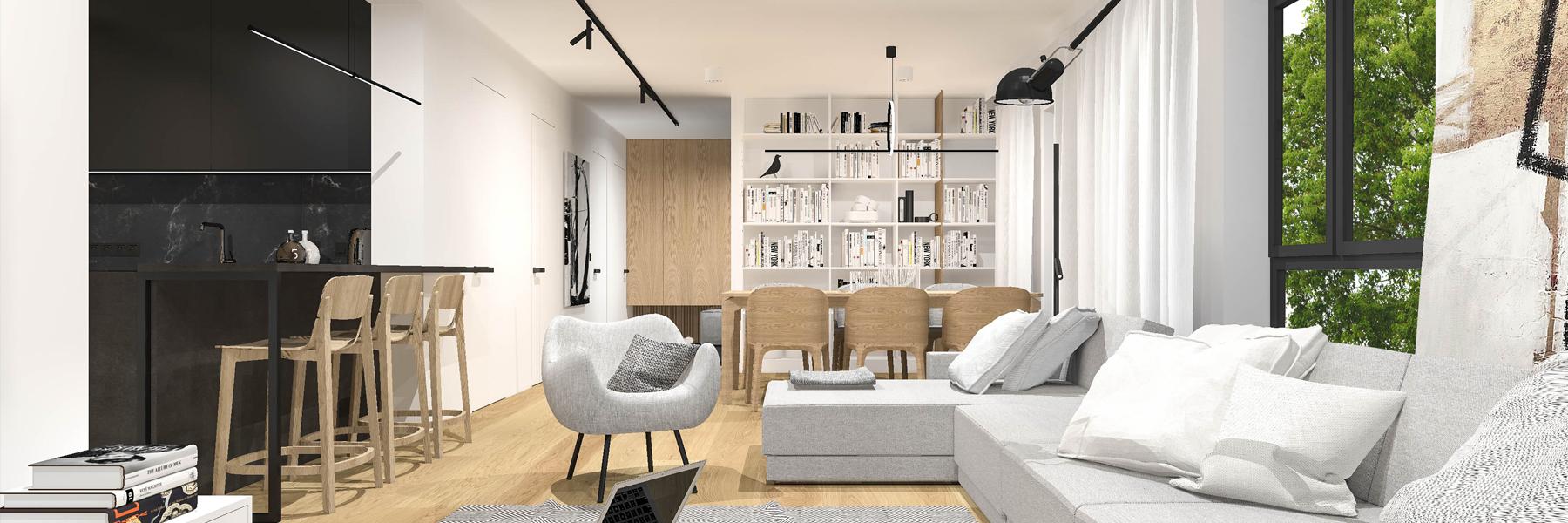minimalistyczny projekt domu MO Architekci Poznań
